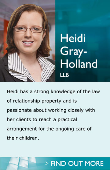 Lawyers in Pukekohe Auckland - Heidi - Heidi has a strong knowledge of the law of relationship property and is passionate about working closely with her clients to reach a practical arrangement for the ongoing care of their children.