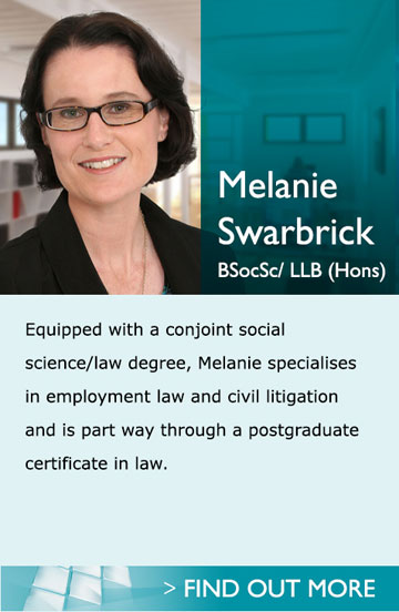 Lawyers in Pukekohe Auckland - Melanie- Equipped with a conjoint social science/ law degree, Melanie specialises in employment law and civil litigation and is part way through a postgraduate certificate in law.