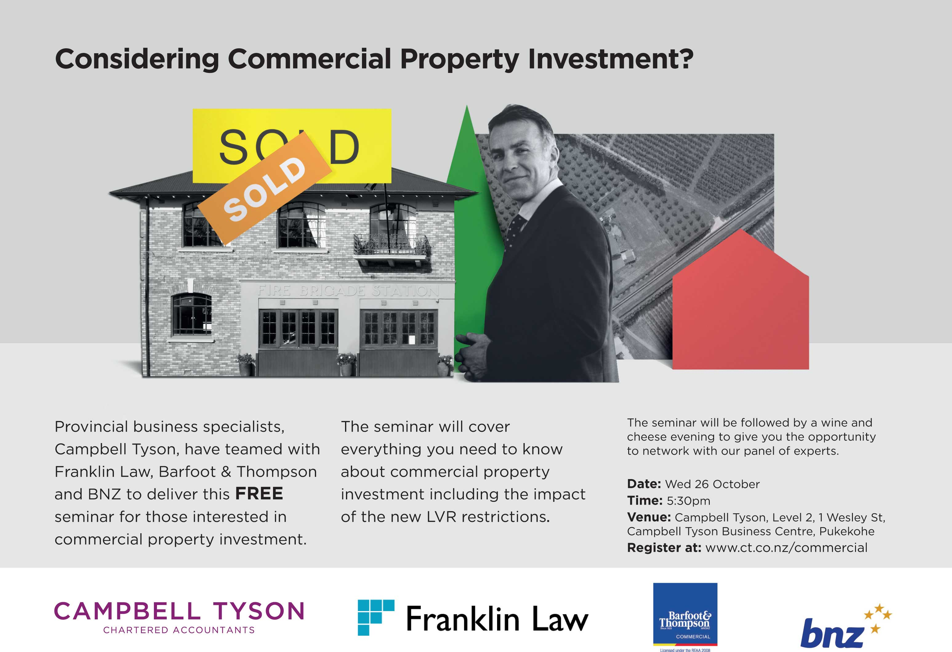 Commercial Property Law : Joint commercial property investment seminar provides