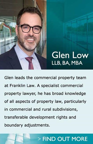 Lawyers in Pukekohe Auckland - Glen - With experience in both Auckland City and the United Kingdom, Glen's expertise are in commercial and property law, including subdivisions, property finance, commercial property and business acquisitions and disposals, commercial leasing and retirement villages.