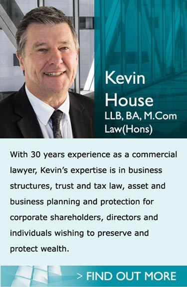 Lawyers in Pukekohe Auckland - Kevin House LLB, BA,M.ComLaw(Hons) - With 30 years experience as a commercial lawyer, Kevin's expertise is in business structures, trust and tax law, asset and business planning and protection for corporate shareholder, directors and individuals wishing to preserve and protect wealth.<br /><br />